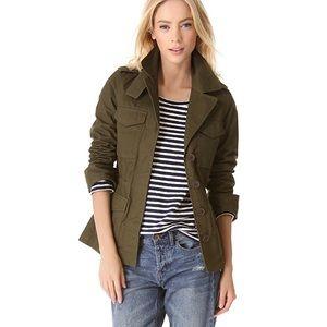 Madewell utility jacket foliage green